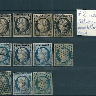 Francia 1849/1850 - Lot of Ceres-type classics - Yvert n°2/3/4
