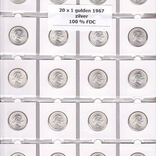 Paesi Bassi - Guldens 1967 Juliana (20 stuks) - Argento