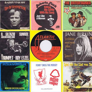 Collection of 9x 60s nostalgic 'Classic-Singles': 1