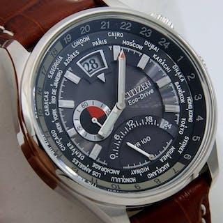 "Citizen - Eco Drive Sport Watch World Time ""Black Dial""..."