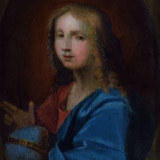 Pittore Olandese del 17° Secolo - Salvator Mundi