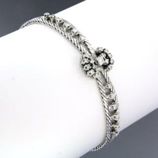 14 kt. White gold - Bracelet - 0.78 ct Diamond