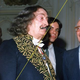 Studio Nath, Paris - Salvador Dalí, at French academy of Arts, 1979