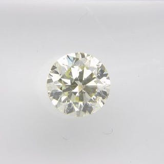 1 pcs Diamond - 0.60 ct - Round - L - VS1, No Reserve Price!