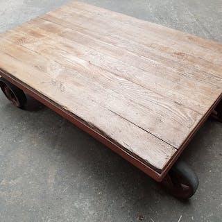 Industrial look coffee table