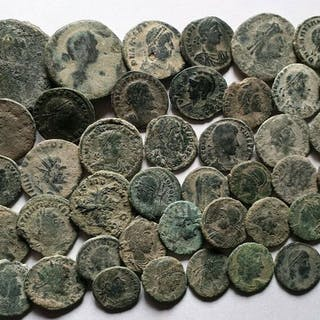 Impero romano - Lote de 41 monedas, acuñadas entre I s d.C. - IV s d.C.
