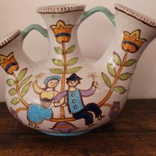 Vincenzo Pinto - Vietri - Dreihalsvase (1) - Keramik