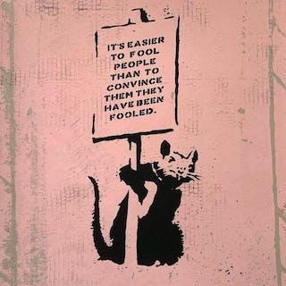 Not Not Banksy / STOT21stcplanB - Is it possible to milk a dead rat