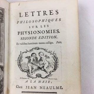 Jacques Pernetti - Lettres Philosophiques, sur les Physionomies... - 1748