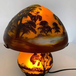 Pilz-Lampe - Glasbein