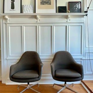 Charles Eames, Ray Eames - Vitra - Armchair (2) - Lose Cushions Chair EA178