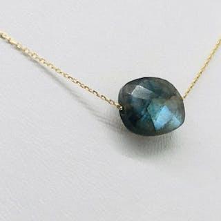 18 carats Or jaune - Collier - 5.50 ct Labradorite