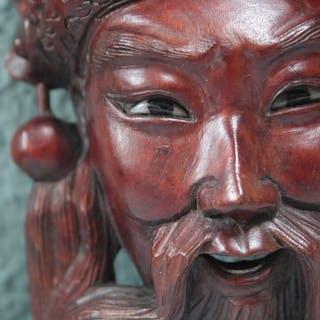 Orientalische Kriegermaske - Holz - Guyana - Ende des 20. Jahrhunderts