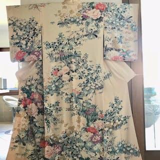 Kimono - Soie - Japon - Milieu du XXe siècle