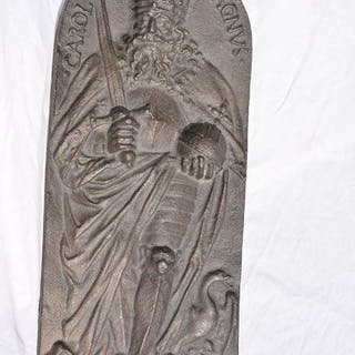 Sonderplakette von Kaiser Karl dem Großen - Mittelalterlicher Stil