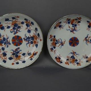 Lastre - Imari - Porcellana - Two both side decorated...
