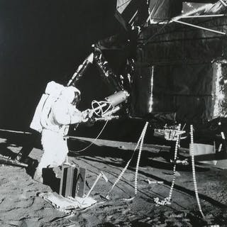 NASA - Alan Bean working on the moon, Apollo 12, 1969