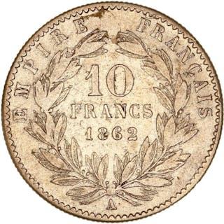 France - 10 Francs  1862-A Napoléon III - Or
