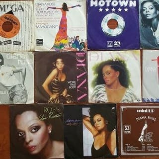 """Diana Ross & The Supremes - 10 x 7"""" singles and 1 x MINI..."""