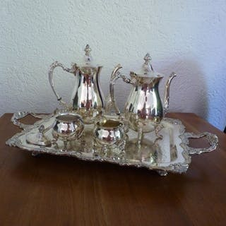 Sheridan Silver Co. Inc. - 5-part American silver-plated coffee / tea set