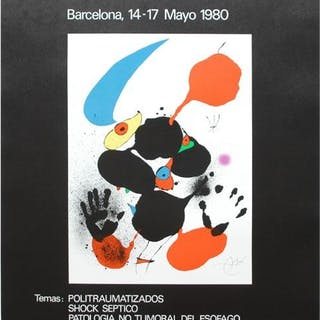 Joan Miró - XIII Congreso Nacional de Cirugia- 1980