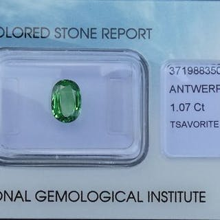 Green Tsavorite - 1.07 ct