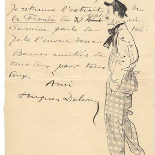 Hughes Delorme / Yves Marivéry - Lettre originale à Firmin Gémier - 1902