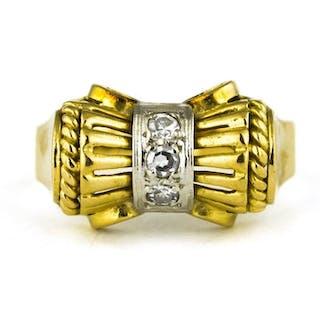 Antique - *Low Reserve Price* - 18 kt Gelbgold - Ring Diamant