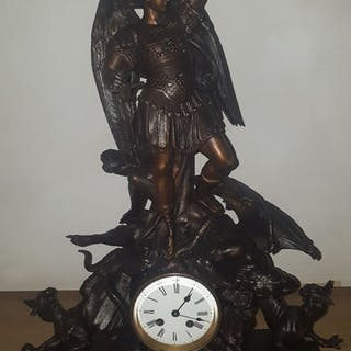 Clock - Spelter - Late 19th century