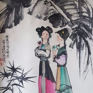 Ink painting - Chinese scroll painting on paper - In...