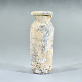 Ancient Roman Glass Cylinder Flask