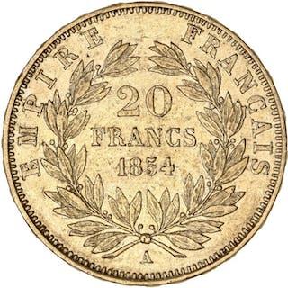 France - 20 Francs 1854-A Napoléon III - Gold