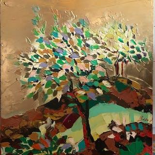 Nelu Pascu - Albero - dipinto