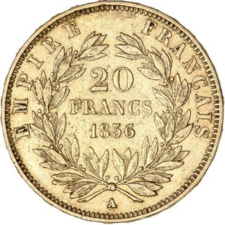 France - 20 Francs 1856-A Napoléon III - Or