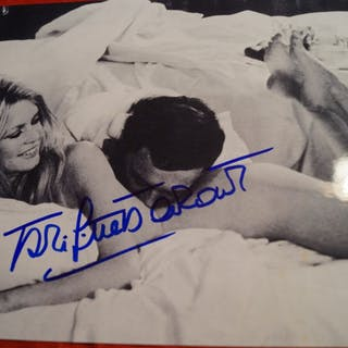 Brigitte Bardot - Signed B&W Photo - COA JSA - Autogramm, Foto