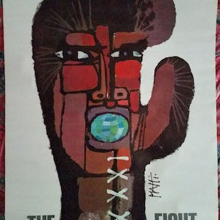 Celestino Piatti - Original 1971 Large Poster Advertising...