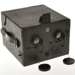 Murer Express Newness P rare detective box stereo camera 9x18cm c.1905 exc+++