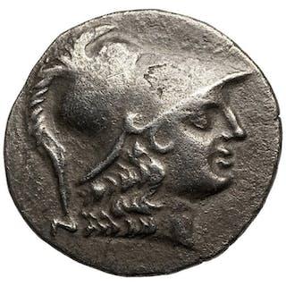Greece (ancient) - AR Tetradrachme, Pamphylia, Side (~145-125 BCE) Athena, Nike