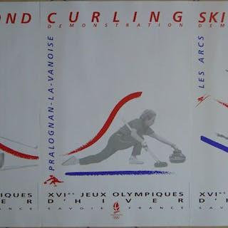 Avenire Graphique - 3 poster XVIes Jeux Olympiques d'hiver - 1992