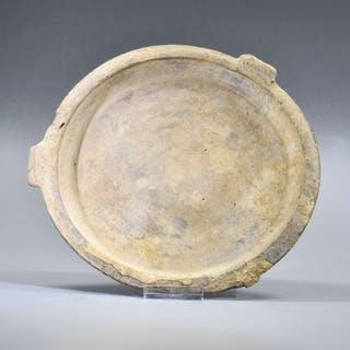 Ancient Greek, Hellenistic Ceramic Plate with Pedestal ex. John Hibner