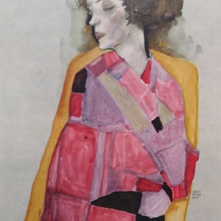 Egon Schiele (1890 - 1918) - Die Träumende 1911 - 1950