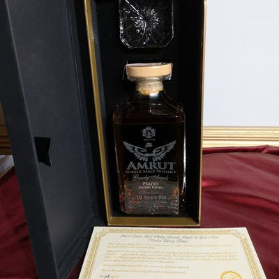 Amrut 10 years old Greedy Angels Peated Sherry Finish 2019  - 0.7 Litres