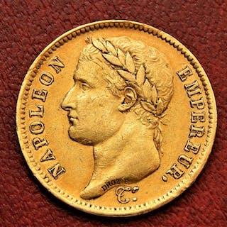 France - 40 Francs 1811-A Napoléon I - Gold