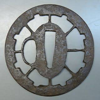 Tsuba - Eisen - watermark design - Japan - Edo-Zeit (1600-1868)