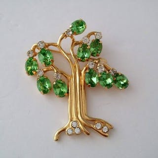 Kenneth Jay Lane KJL Vergoldet - Baum des Lebens Brosche
