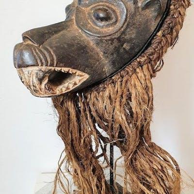 Masque de danse - Bois dur et rafia - MARKA SONINKE - Mali