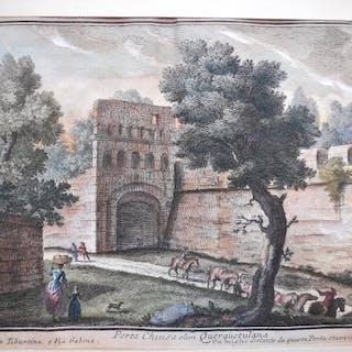 Italia, Lazio, Roma; Giuseppe Vasi - Porta Chiusa olim Querquetulana - 1721-1750