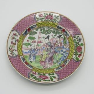 Teller (1) - Familie rose - Porzellan - China - Zwanzigstes jahrhundert