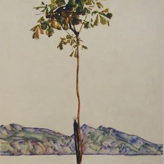 Egon Schiele (1890 - 1918)- Kastanienbaum1917.