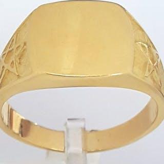 18 carati Oro giallo - Anello